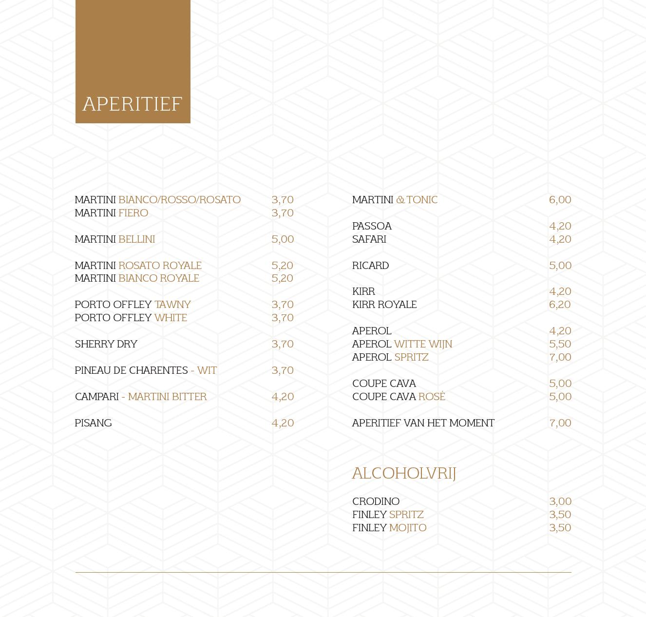 menukaart 11