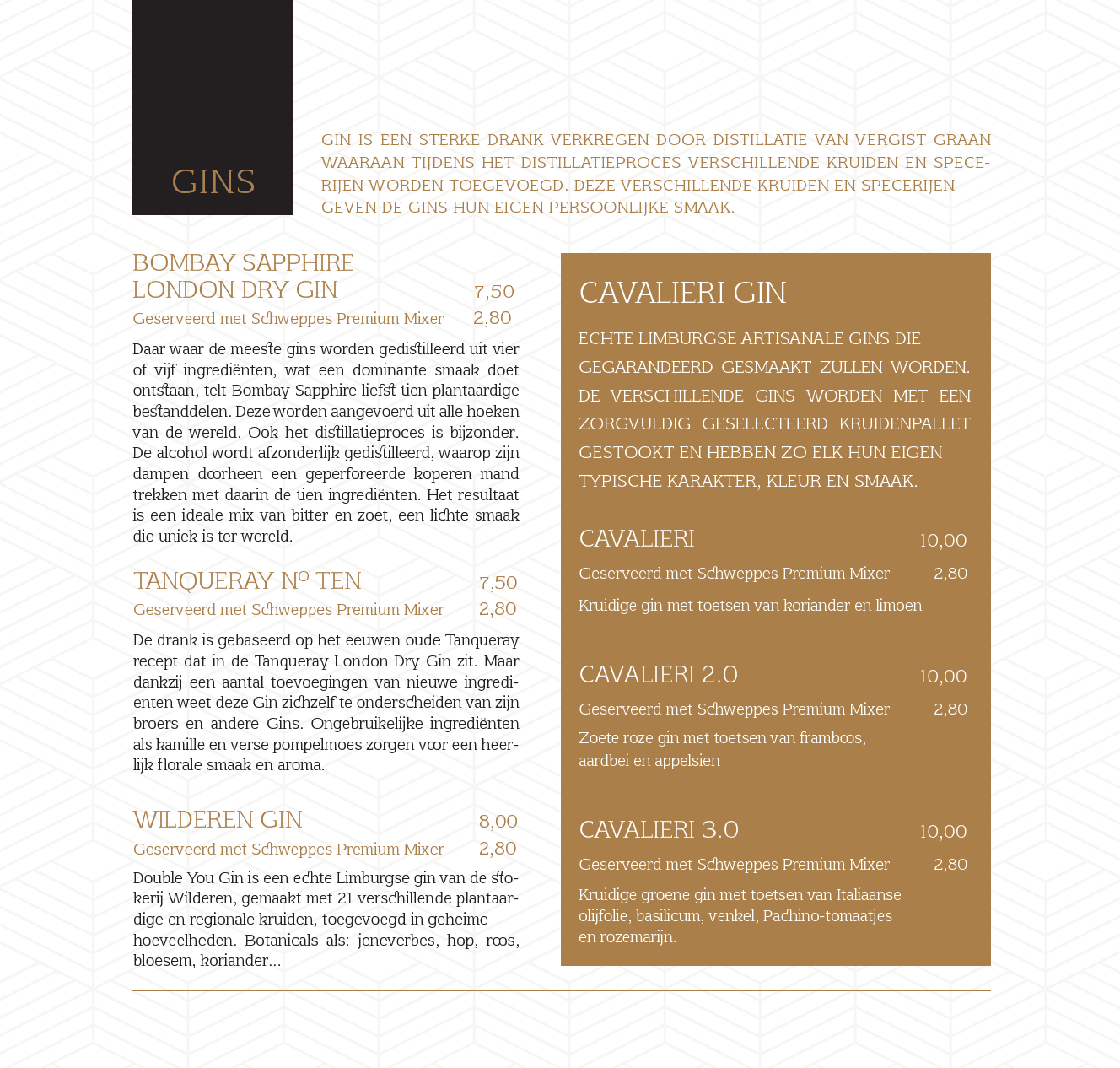 menukaart 12