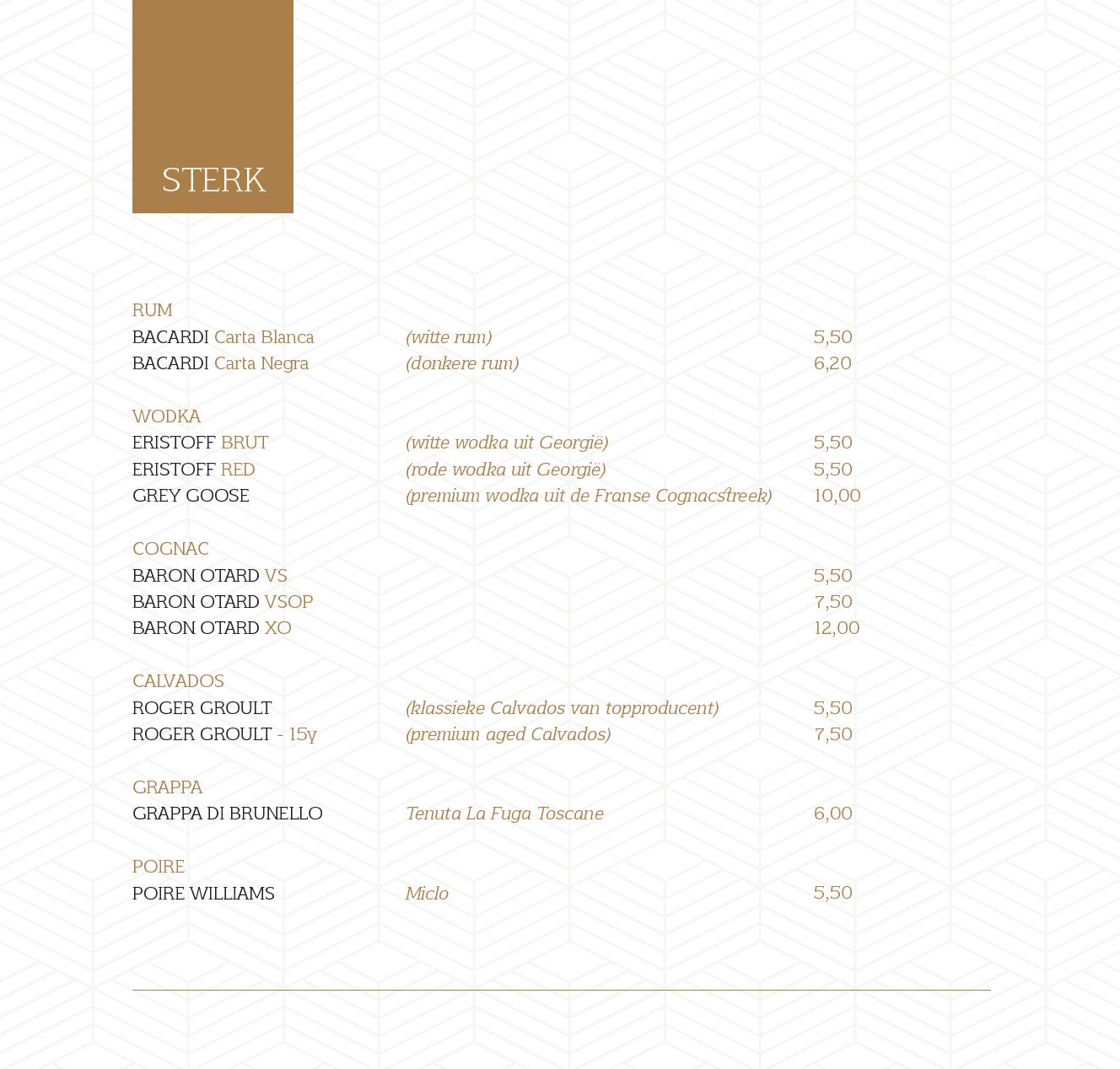 menukaart 14