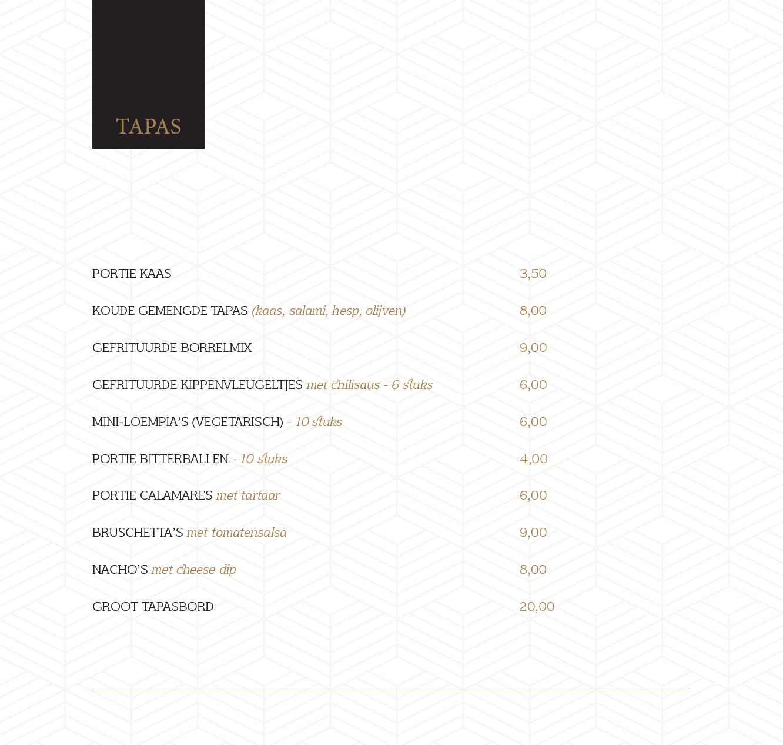 menukaart 17