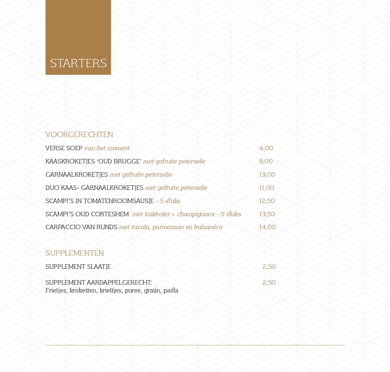menukaart 19