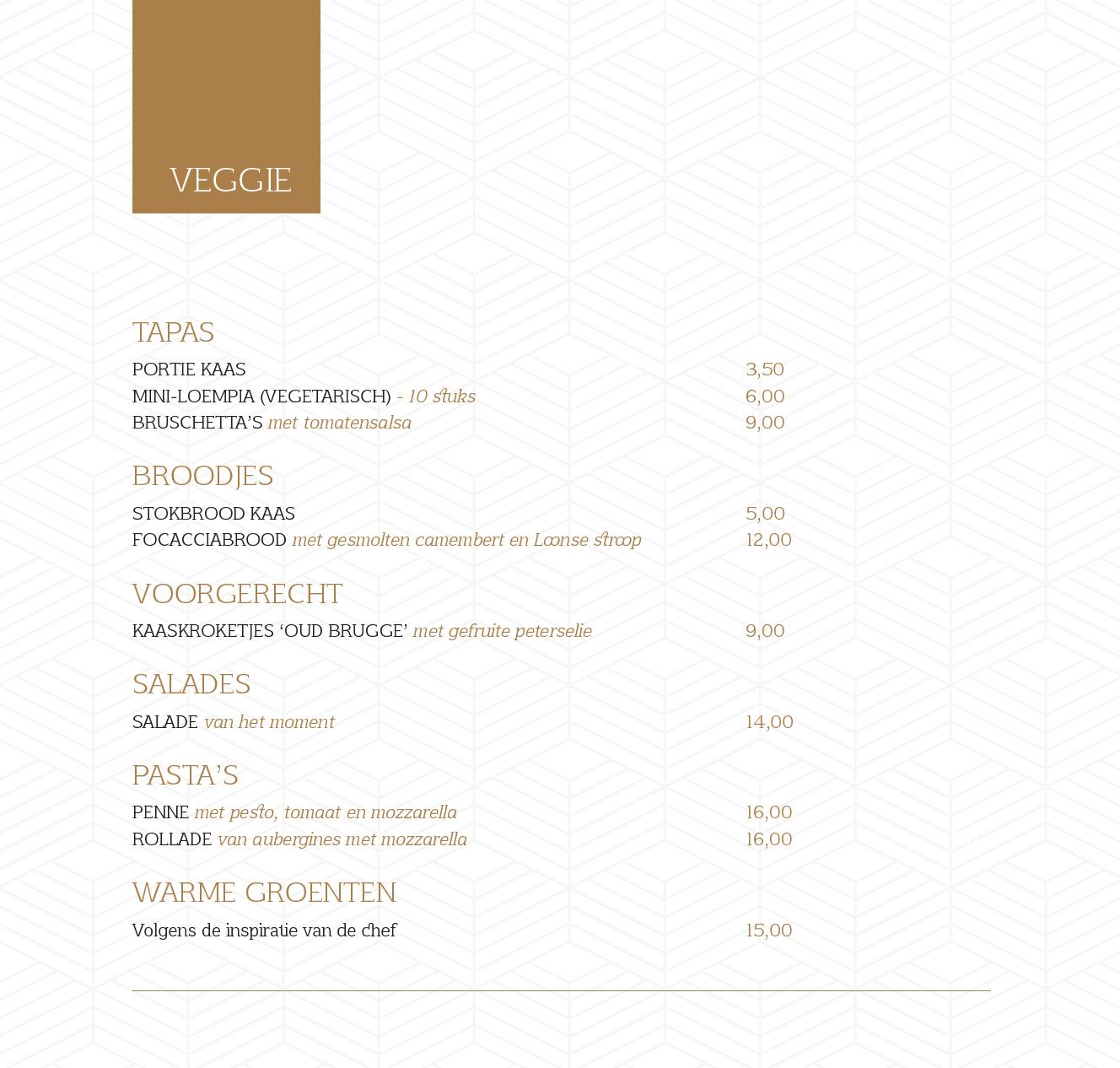 menukaart 22