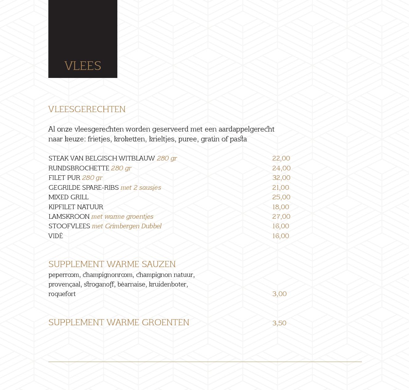 menukaart 23