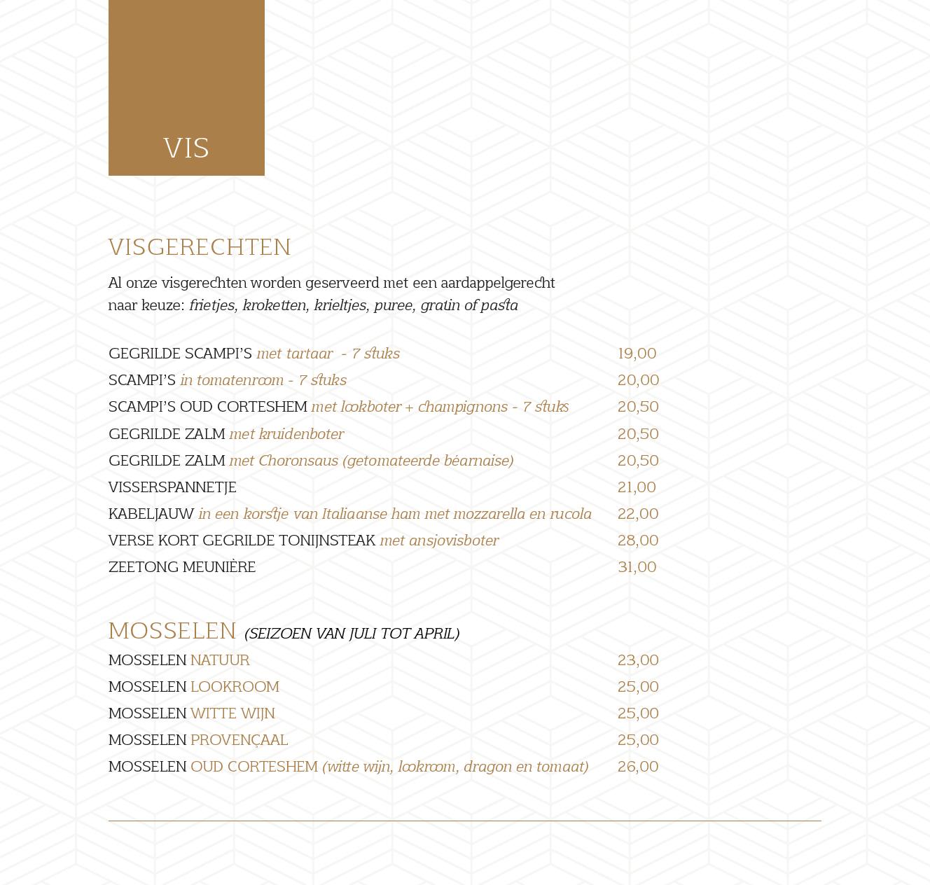 menukaart 24